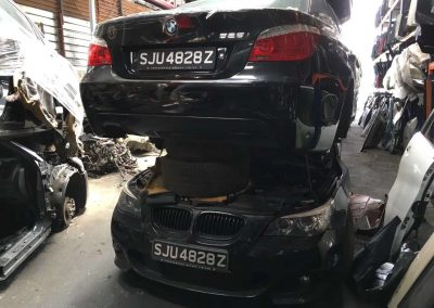 BMW E60 LCI 525 FRONT CUT AND REAR CUT