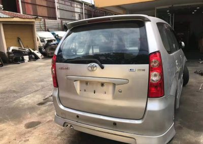 TOYOTA AVANZA 1.3CC AUTO FRONT CUT AND REAR CUT